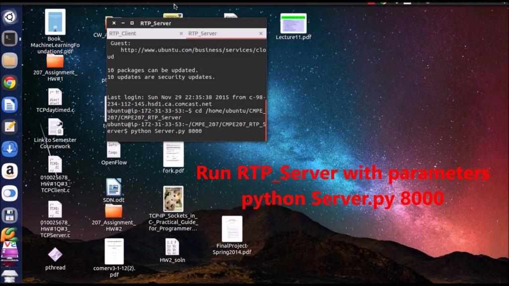 RTP/RTSP Streaming (Cloud Server, Python) -