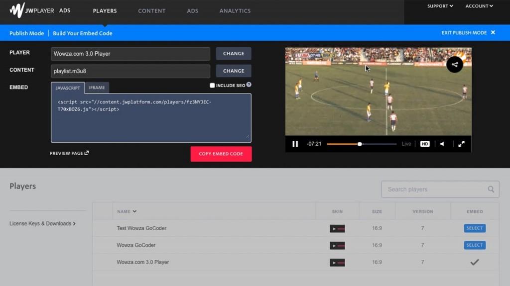 Ways to utilize JW Gamer 7 with Wowza Streaming Motor -