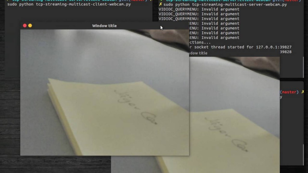 Tcp streaming multicast with Python -