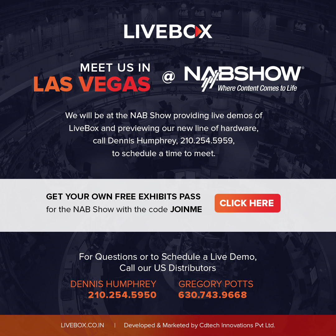 Livebox server demo at Las Vegas